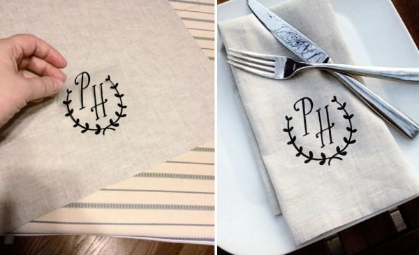 DIY napkins via Indie Wed