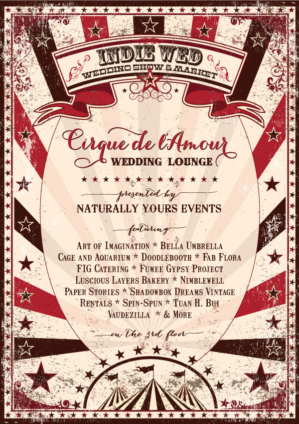 Cirque de l'Amour Wedding Lounge at Indie Wed Wedding Show & Market