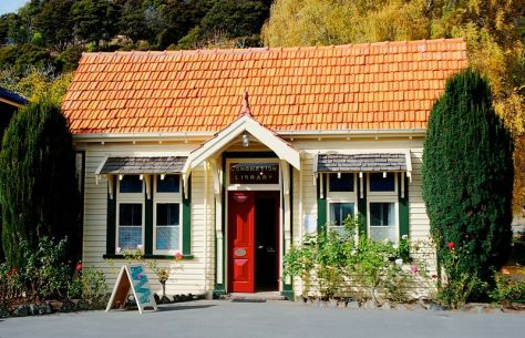 """Library Akaroa New Zealand"" by criswa is licensed under CC BY-SA 2.0"