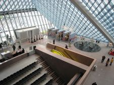 """Interior of Seattle Central Library"" by Jeff Wilcox from Seatle, WA, USA is licensed under CC BY-SA 2.0"