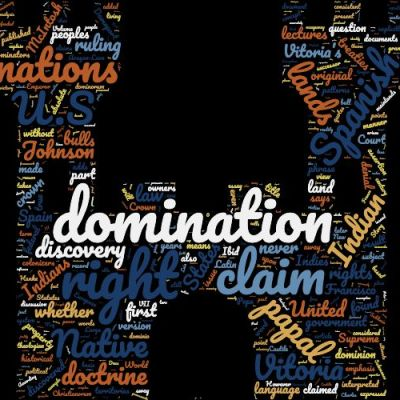 Acknowledging the Doctrine of Christian Domination word cloud