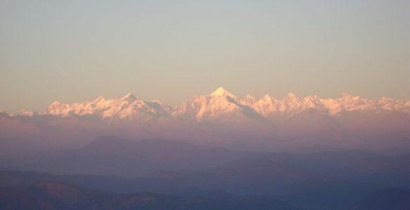 Himalayan range view from Binsar Dalar Village
