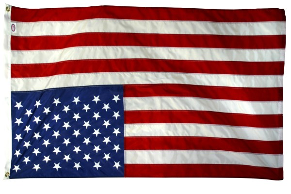 U.S. flag in distress