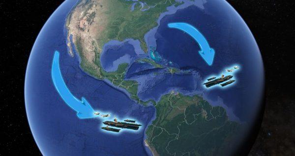 2 vliegdekschepen hebben de haven verlaten – zijn de USS Eisenhower en de USS Roosevelt naar het zuiden op weg naar Venezuela?