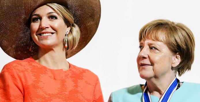Taal zorgt voor problemen bij praatje Merkel en Máxima