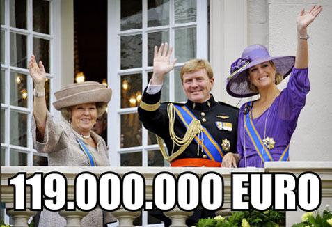 Ministers verzinnen uitvluchten en draaiener omheen Geld, Koningshuis en Onkosten