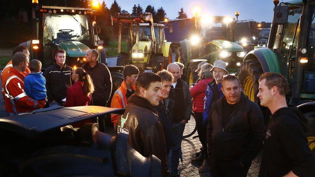 De boeren zijn de leugens van Rutte zat