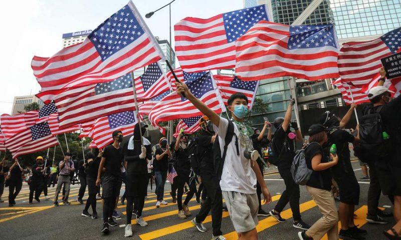 """Buitenlandse (VS) interferentie volgen in HK? """"Integreren of vergaan"""""""