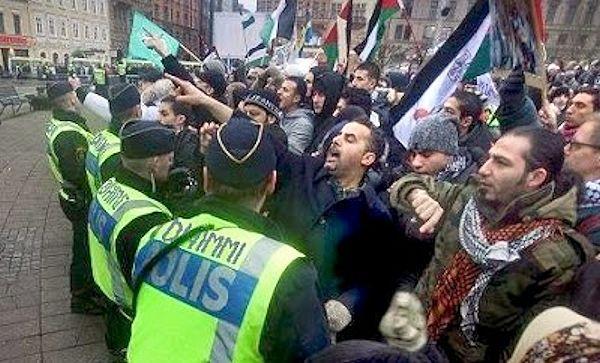 Zweden roepen op om je cultuur te verdedigen tegen de islam tijdens groot protest