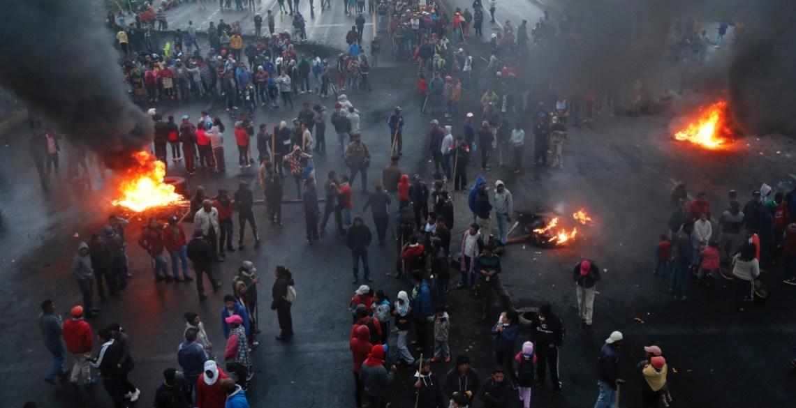 Ecuador protesteert tegen het IMF