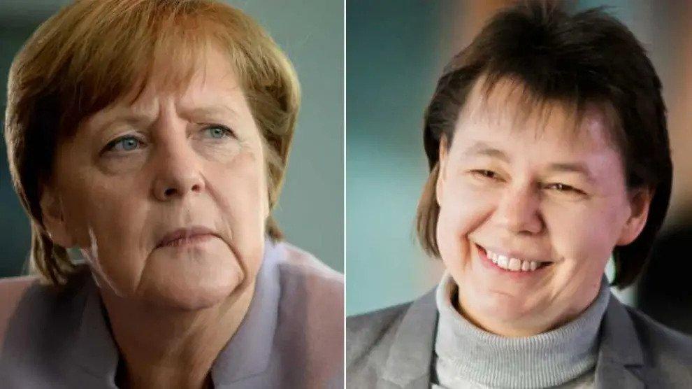 Angela Merkel en Beate Baumann: regeren twee hardcore lesbiennes in de kanselarij?