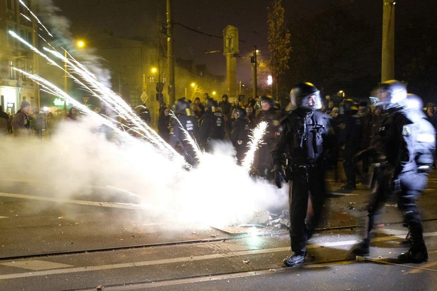 Rellen in Leipzig & het gevaar van extreemlinks geweld