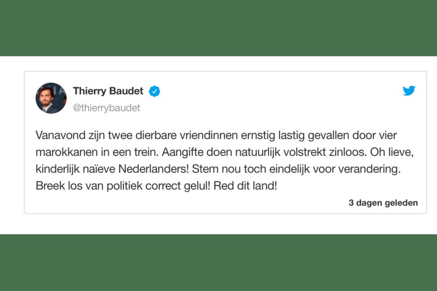 Samenwerkingsverband Marokkaanse Nederlanders fileert tweet Baudet