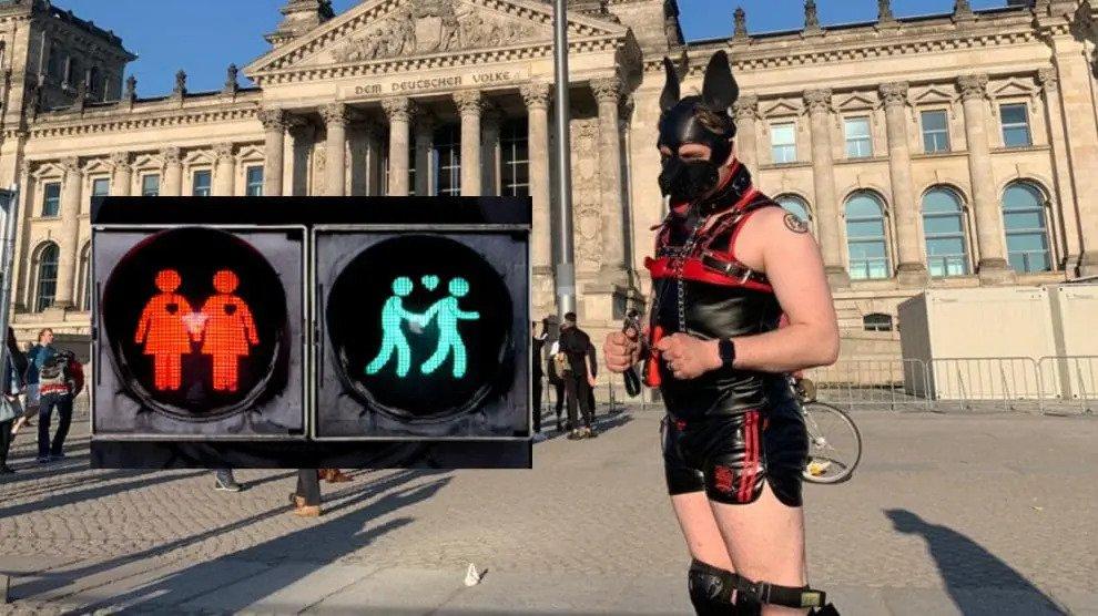 Duitse SPD introduceert homo verkeerslichtmannen in Hannover