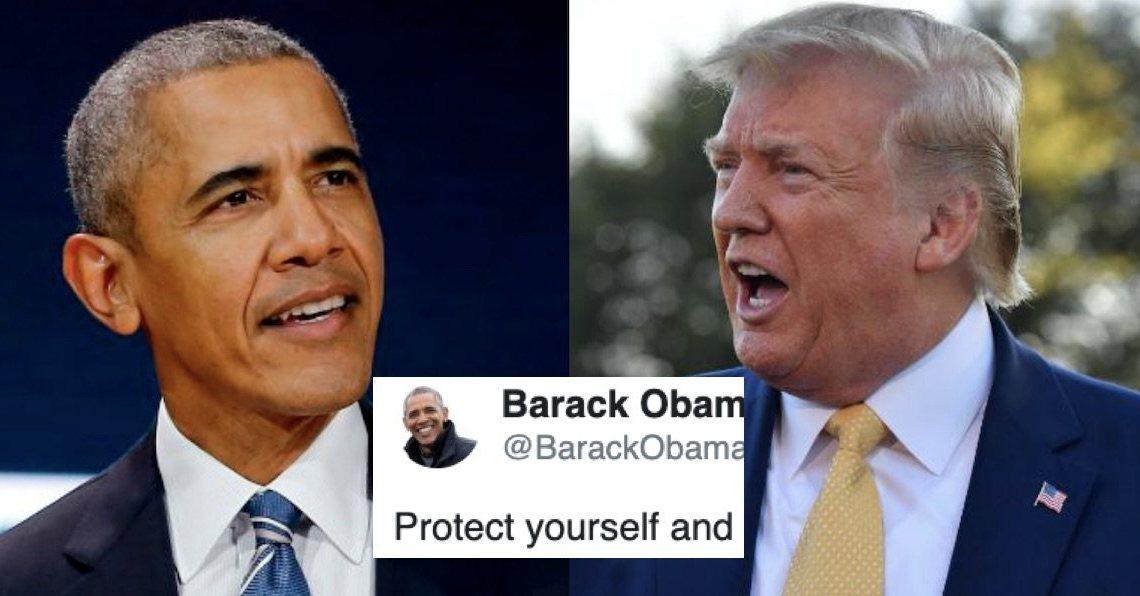 Trump probeert Obama nu de schuld te geven van zijn coronavirusreactie