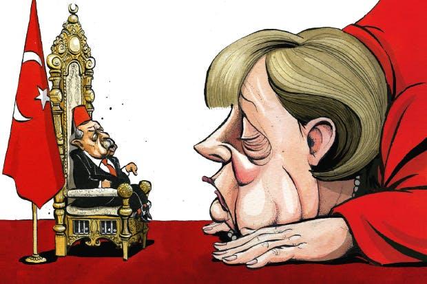 VOOR DE TWEEDE KEER IN EEN MAAND is de EU met succes gechanteerd door de Turkse president Erdogan