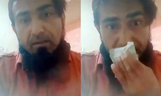 """INDIA: Moslimman likt en veegt zijn neus af aan valuta en zegt: """"Het virus is de straf van Allah voor jou"""""""