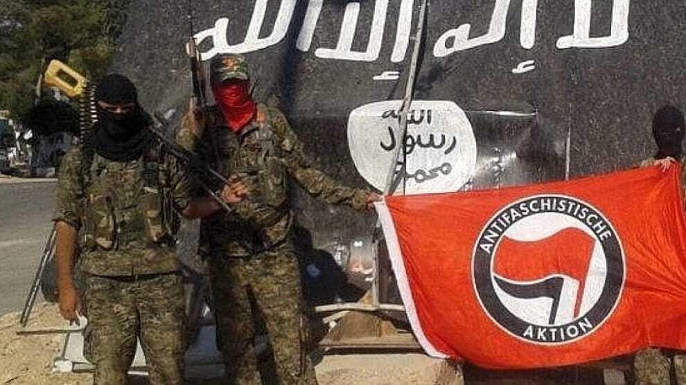 Uncovered: linkse terrorist ANTIFA gaat naar Syrië voor militaire training