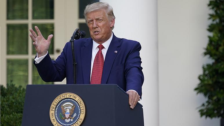 Trump's Rose Garden-adres was een scatologische breuk met de realiteit en is in PANIEK