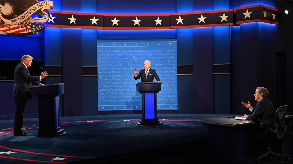 Volgens de eerste peilingen na het debat won Biden
