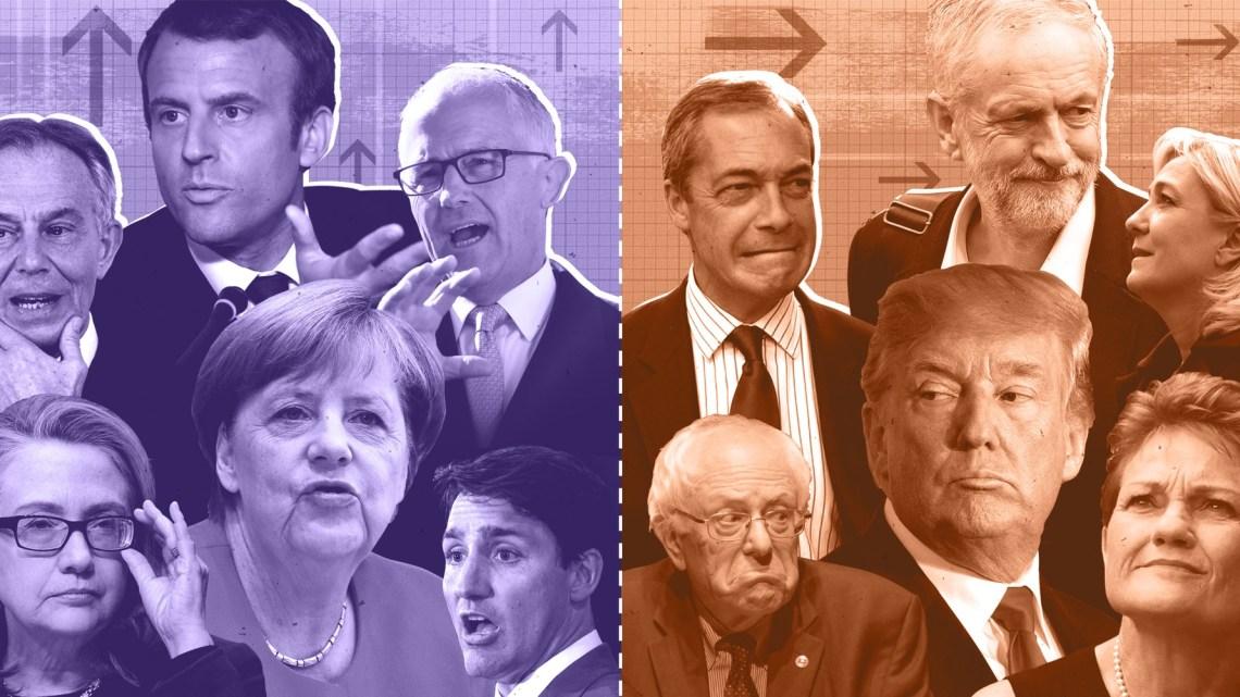 Onze nieuwe politieke orde: Ins tegen Outs, niet Links tegen Rechts