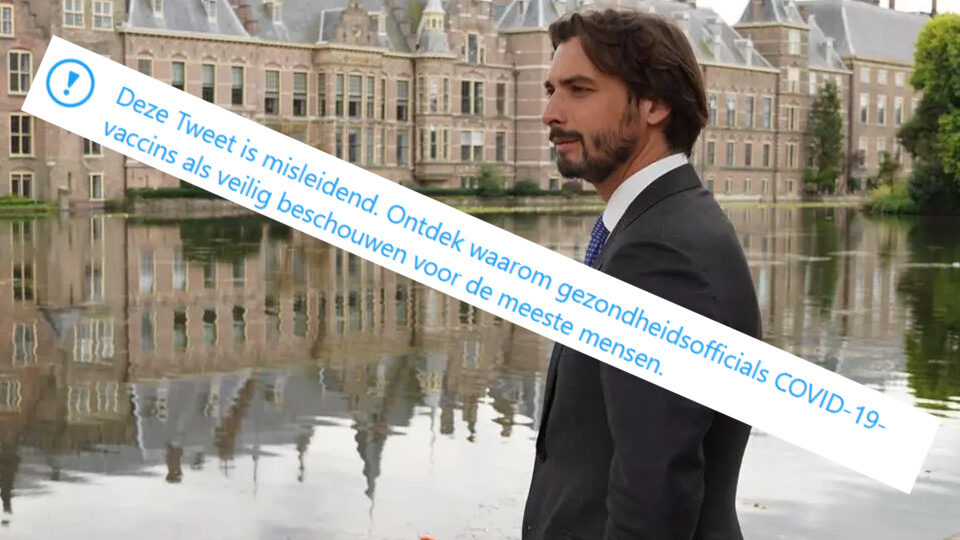 """Tweet van Thierry Baudet over coronavaccins bestempeld als """"misleidend"""""""