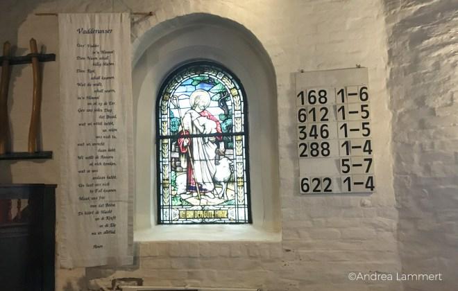 Hanswarft auf der Hallig Hooge in der Nordsee, Halligkirche