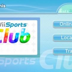 Wii Sports Club Menu