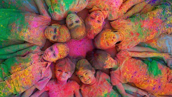 rengarenk çocuklar