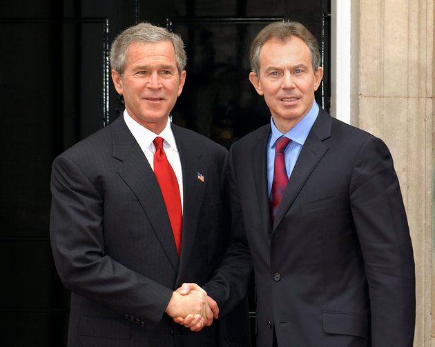 Dönemin ABD Başkanı George W. Bush ve İngiltere Başbakanı Tony Blair (2003)