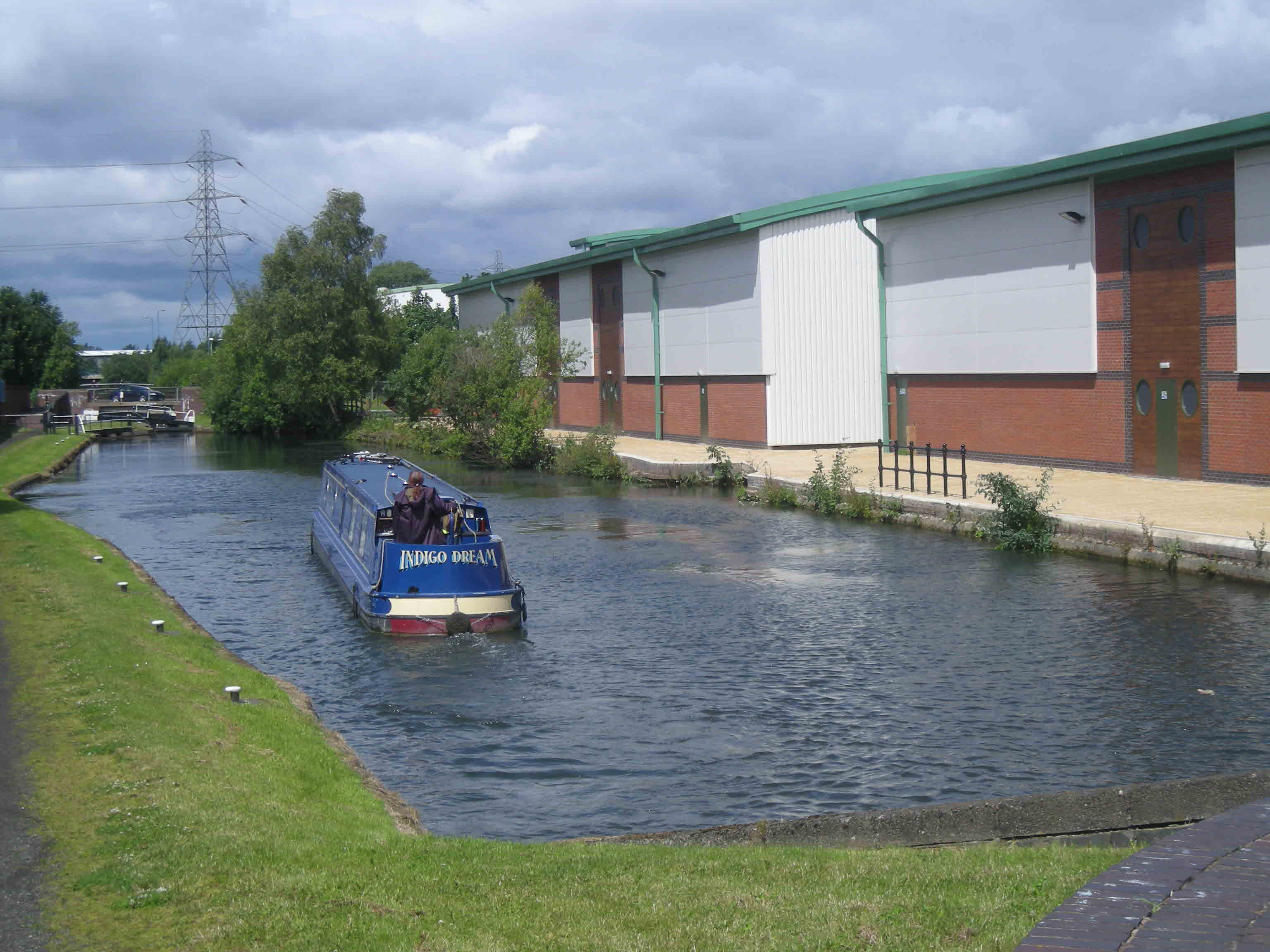 Attractive modern canalside industry