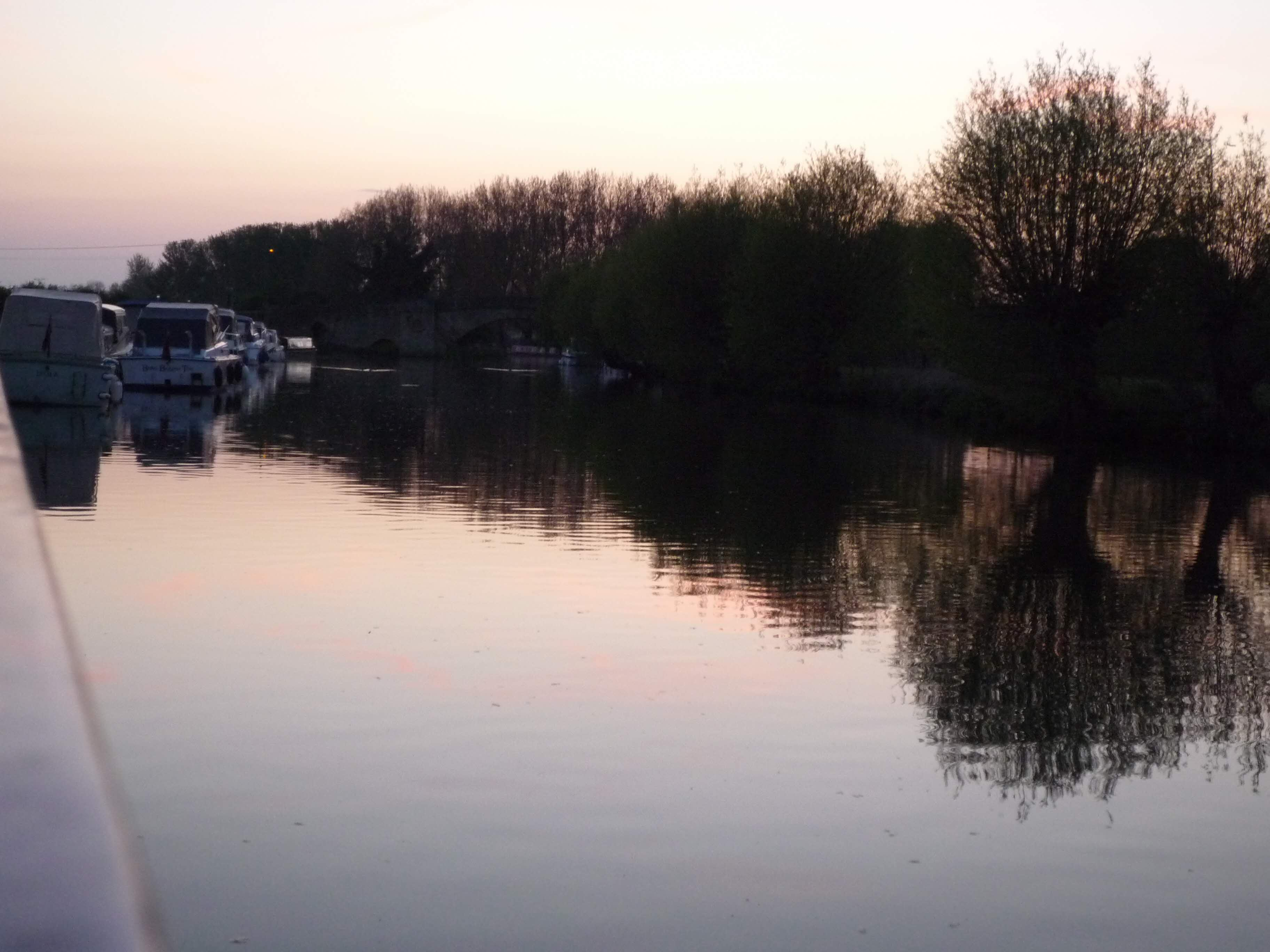 Twilight on the water at Lechlade