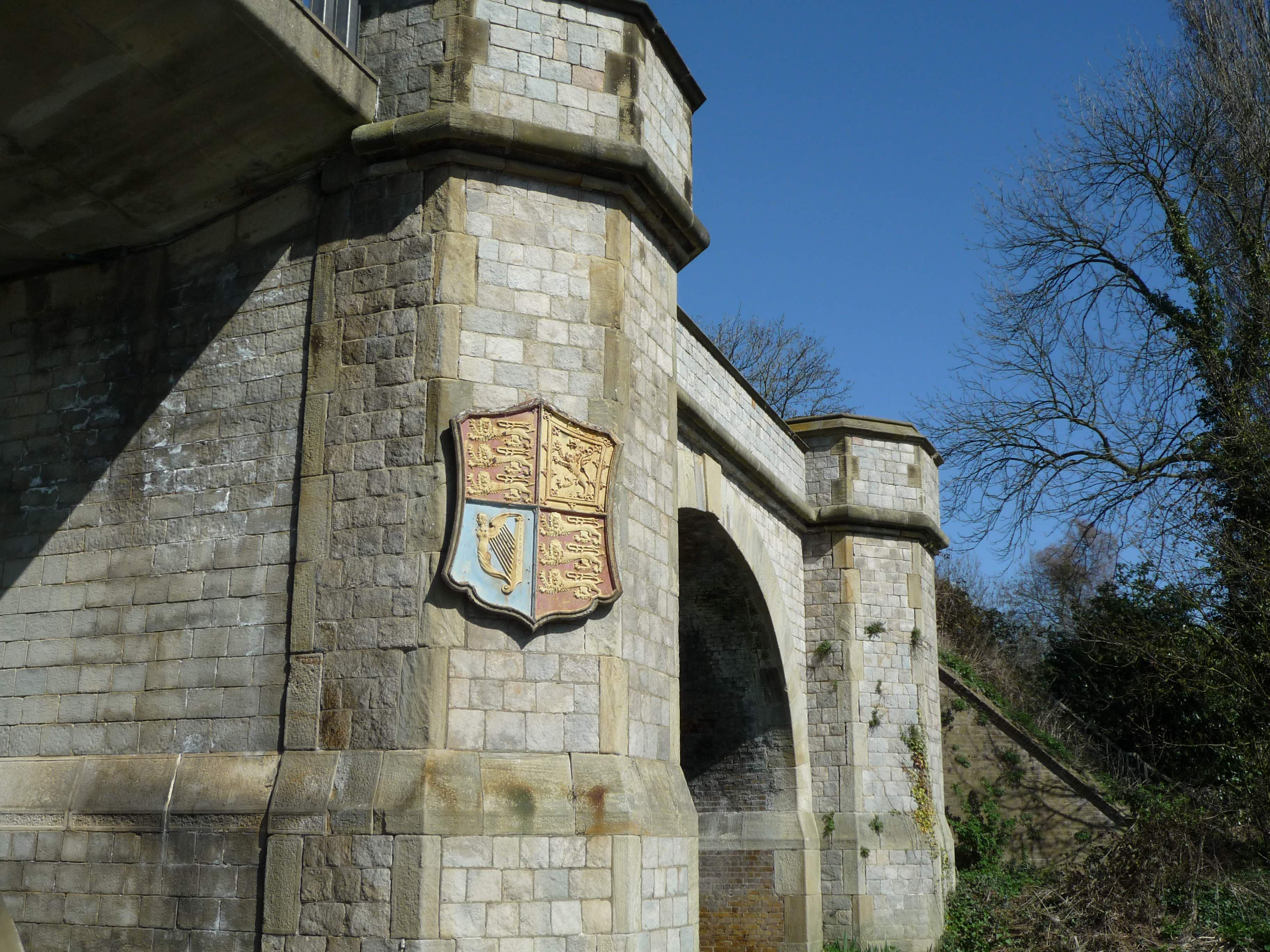 Bridge in Windsor Great Park. Who's crest is that?