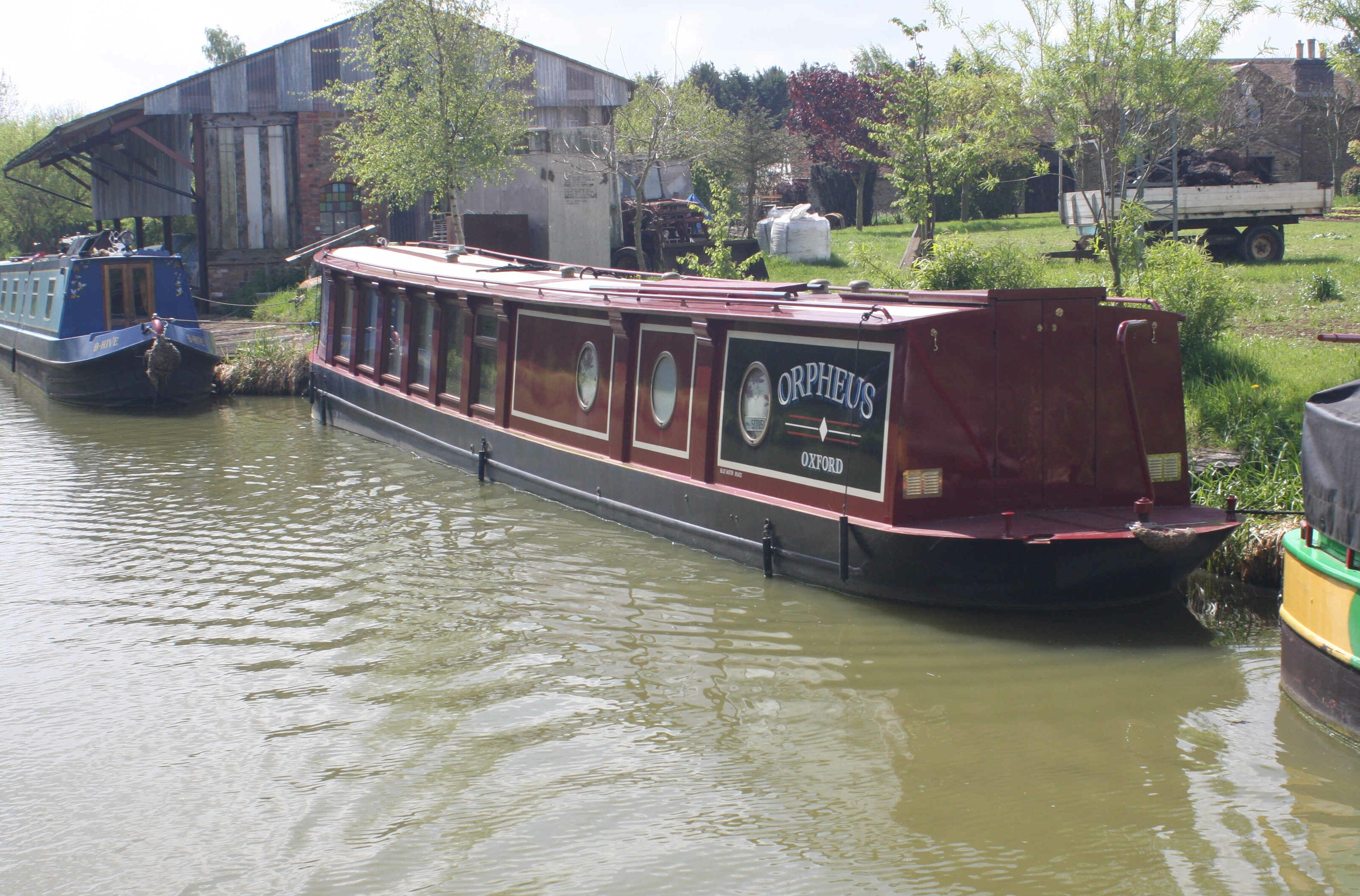 Unusual narrowboat design - built by Bluewater, who we associate with a more conventional, but beautifully crafted, boat.