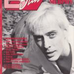 Peter Murphy B Side Magazine February 1990 Cover