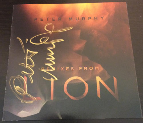 Peter Murphy Remixes From Lion US CD 2015 Signed Front Cover