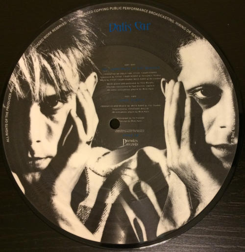 "Dalis Car The Judgement Is The Mirror UK 7"" Picture Disc 1984 B Side"