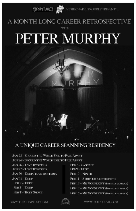 Peter Murphy San Francisco Residency Poster