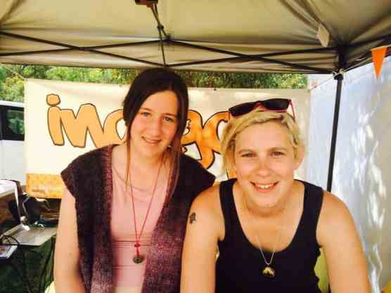 Leah (left) after her catch up with super talented Rosie Burgess (right) at FRL 2014