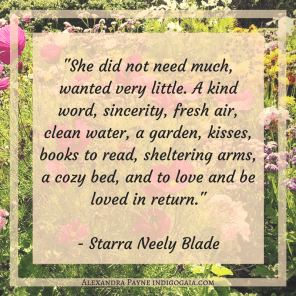 She did not need much - Starra Neely Blade