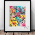 Butterfly Print Framed