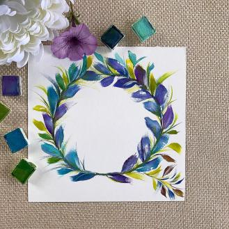 The blues and purples of this laurel wreath make me so happy. You?