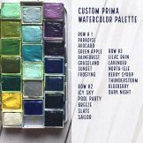 Here's my custom built palette of watercolors from different Prima sets