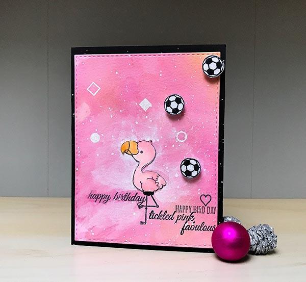 Flamingo Stamp Set by Beth Silaika