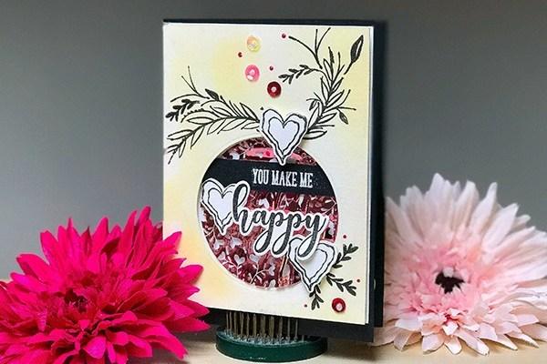 You Make Me Happy Whimsical Card