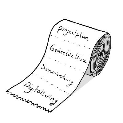 tekenrol uit woordenmachine
