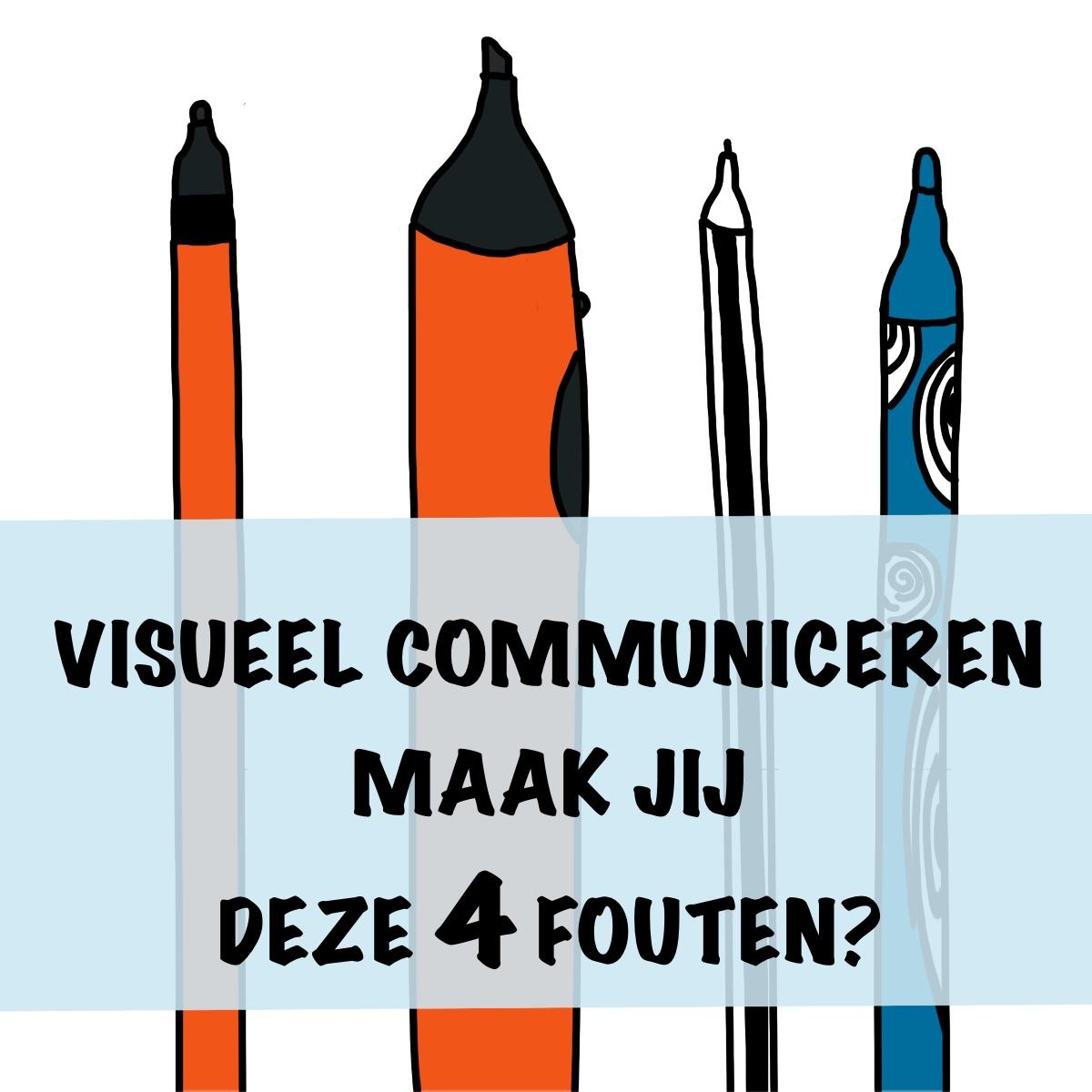 Beginnen met visueel communiceren veel gemaakte fouten