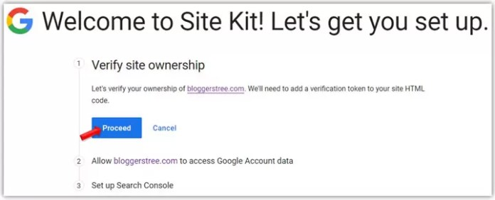 Verify Site Ownership in Google Site Kit Plugin