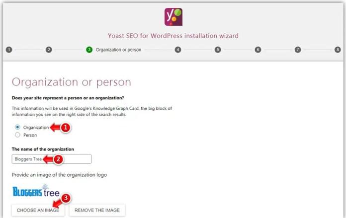Choose Organization or Person in Yoast SEO