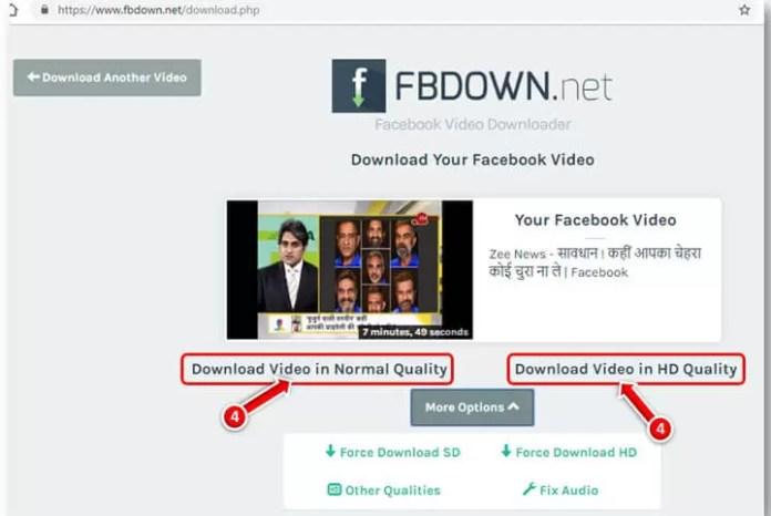 fb download Videos in Computer
